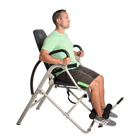 Stamina Inline Gray Back Pain Relief Seated Inversion Therapy Table Chair   1550 - mobility - recovery Gray - Stamina Inline Inversion Chair