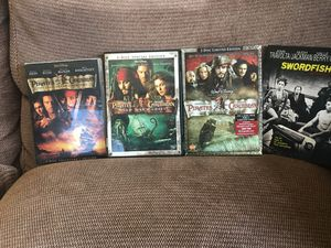 DVDs. Pirates of Carribbean (6 discs in 3 Cases), Swordfish for Sale in Vienna, VA
