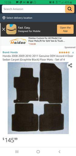 Honda Accord All Weather Floor Mats Thumbnail