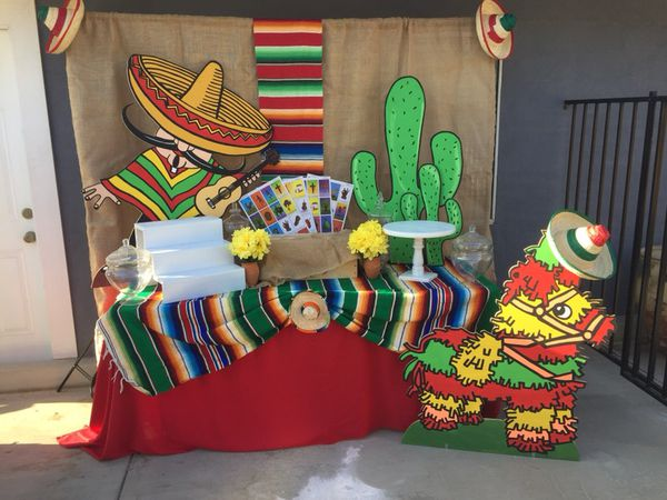 Mexican Backdrop Theme Table Set Up For Sale In Montebello