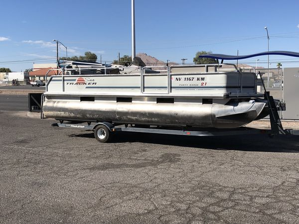 Offerup Las Vegas >> 1996 sun tracker Party barge 21 feet lots of fun (Boats & Marine) in North Las Vegas, NV - OfferUp