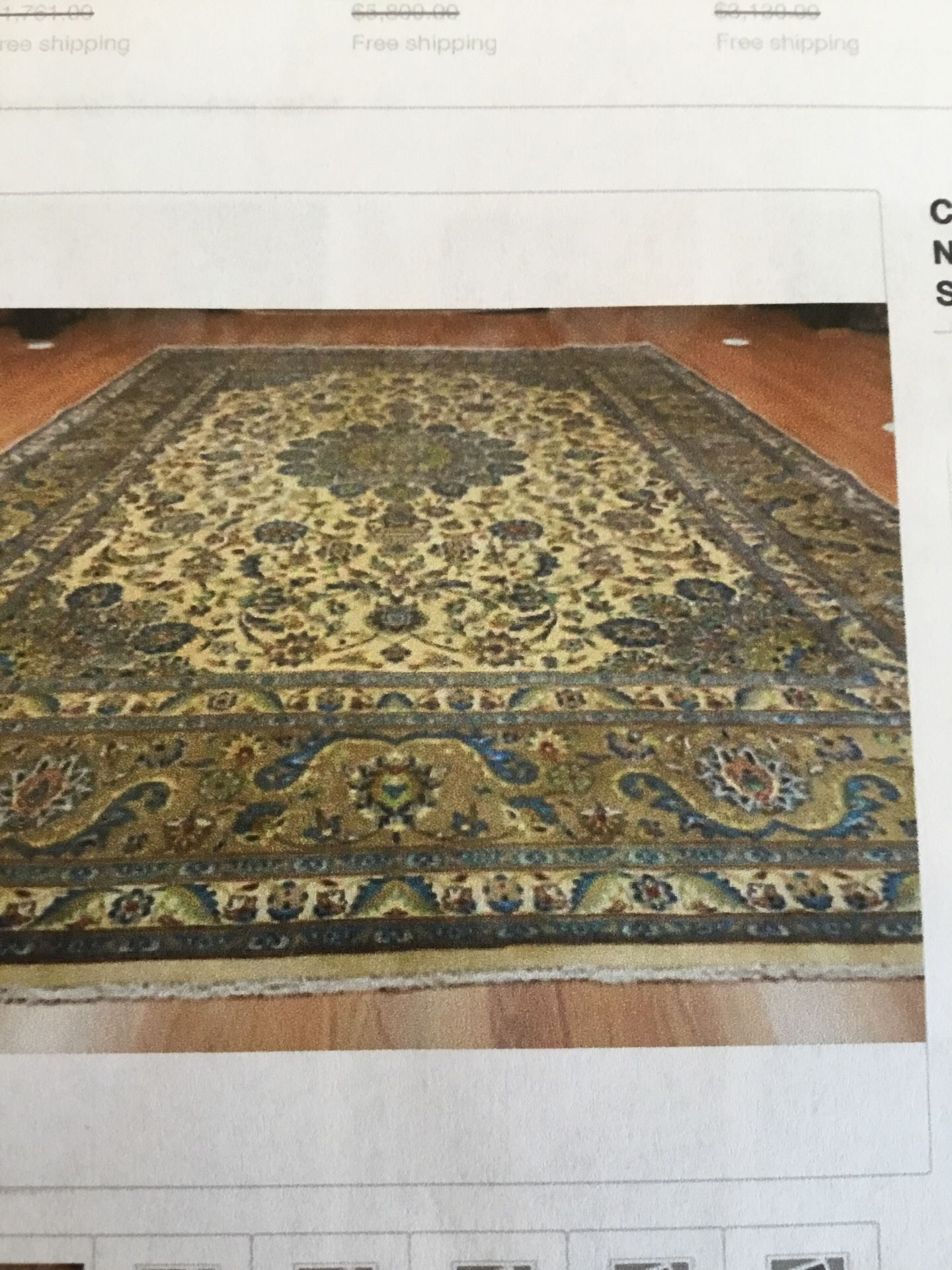 """Beautiful c1940 hand tied Persian Rug 8'1"""" x 11'2"""" Excellent Condition no stains"""