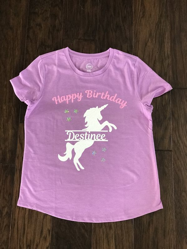 Custom Unicorn Birthday Shirt