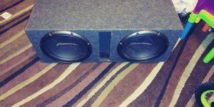 "12"" pioneer champion series pro with matching amplifier for Sale in Baltimore, MD"