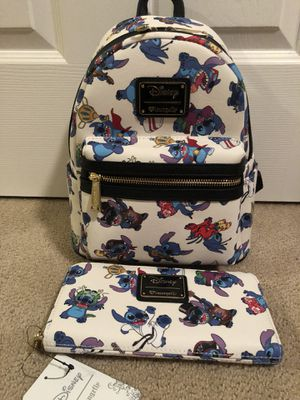 Disney Stitch Loungefly Backpack & Wallet for Sale in Los Angeles, CA