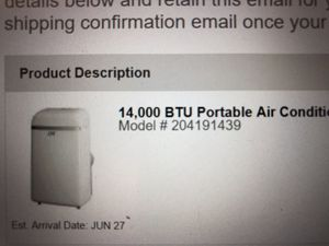 14,000 BTU Portable Air Conditioner for Sale in Washington, DC