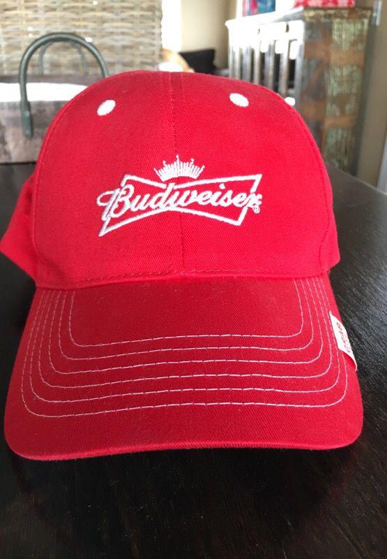 cd1dcb1e674e2 NEW Budweiser Red and White Baseball Cap Trucker Hat for Sale in ...
