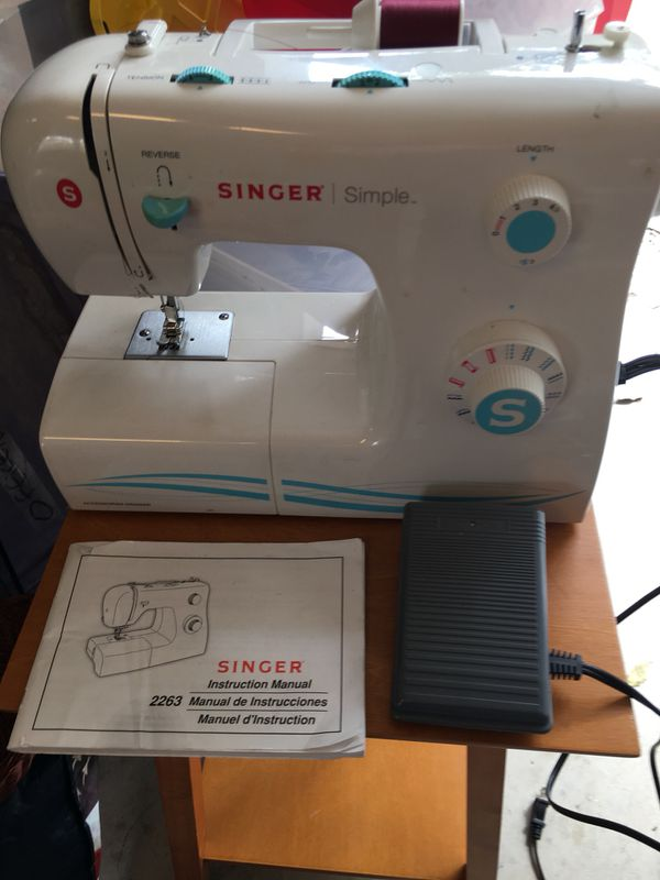 Singer Simple 40 Sewing Machine Wtil Case For Sale In Hutto TX New Singer Simple Sewing Machine Manual 2263