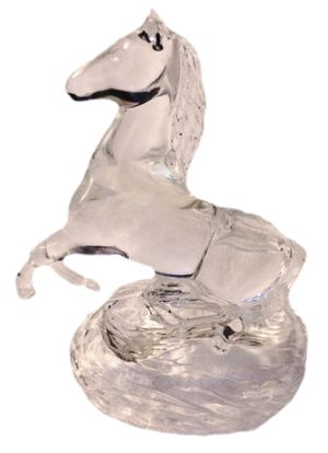 Christmas Handblown Art Glass Icy Crystal Horse Statue Figure Decorative Collectable for Sale in Saylorsburg, PA
