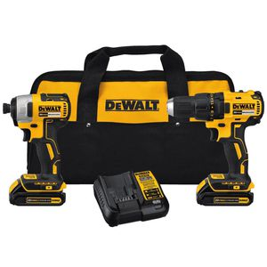 DEWALT 20-Volt MAX Lithium-Ion Cordless Brushless Drill/Driver and Impact Combo Kit (2-Tool) w/ (2) Batteries 1.3Ah and Charger for Sale in Silver Spring, MD