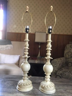 New and used lamp shades for sale in buffalo ny offerup pair ornate antiqued lamp bases for sale in north tonawanda ny aloadofball Choice Image