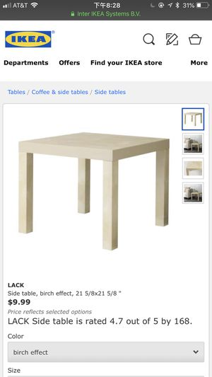 IKEA side table birch effect. I have 3 of them. You can get$5 for three for Sale in Alexandria, VA