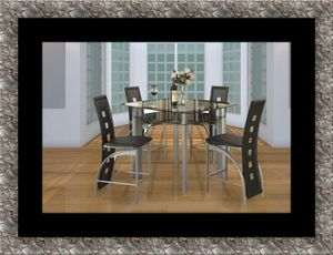 Counter height glass dining table with 4 chairs for Sale in McLean, VA