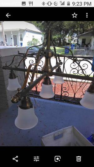 Vintage brass chandelier for Sale in Tampa, FL