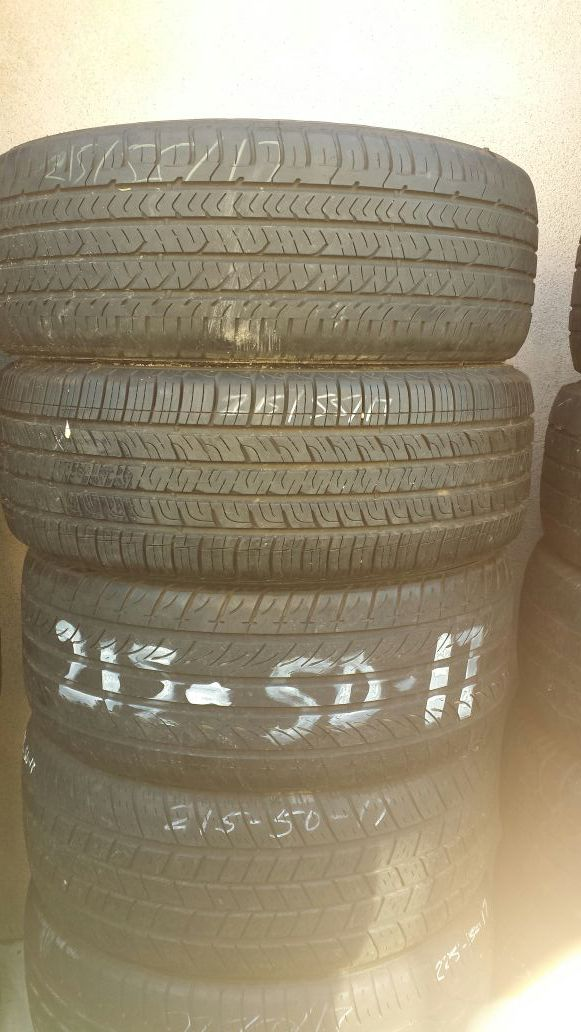 215 50 17 and 215 55 17 used tires