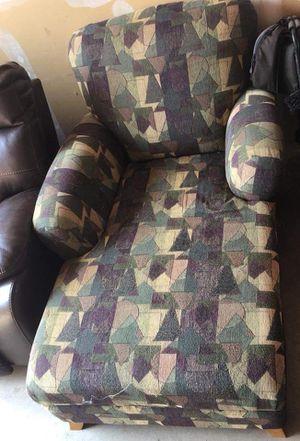 Beautiful broyhill chaise lounge sofa chair geometric design original price $800 for Sale in Louisa, VA