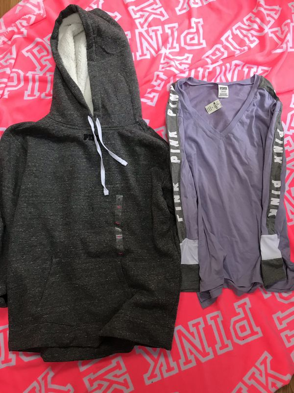 76bfe145a785b Victoria's Secret Pink Hoodie & Tee,L,New for Sale in Richmond, VA ...