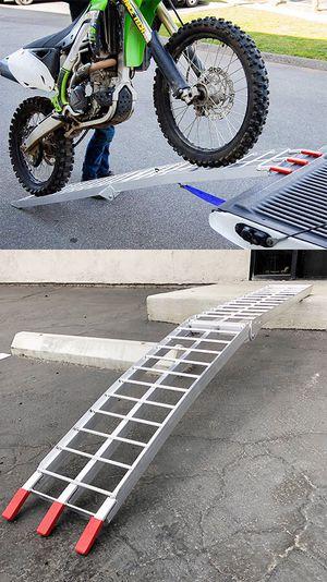 Photo New $60 Single 7.5ft Aluminum Motorcycle Folding Loading Ramp Street Dirt Bike 750Lbs Rated