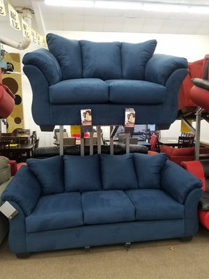 Ashley Furniture blue color sofa and loveseat for Sale in College Park, MD