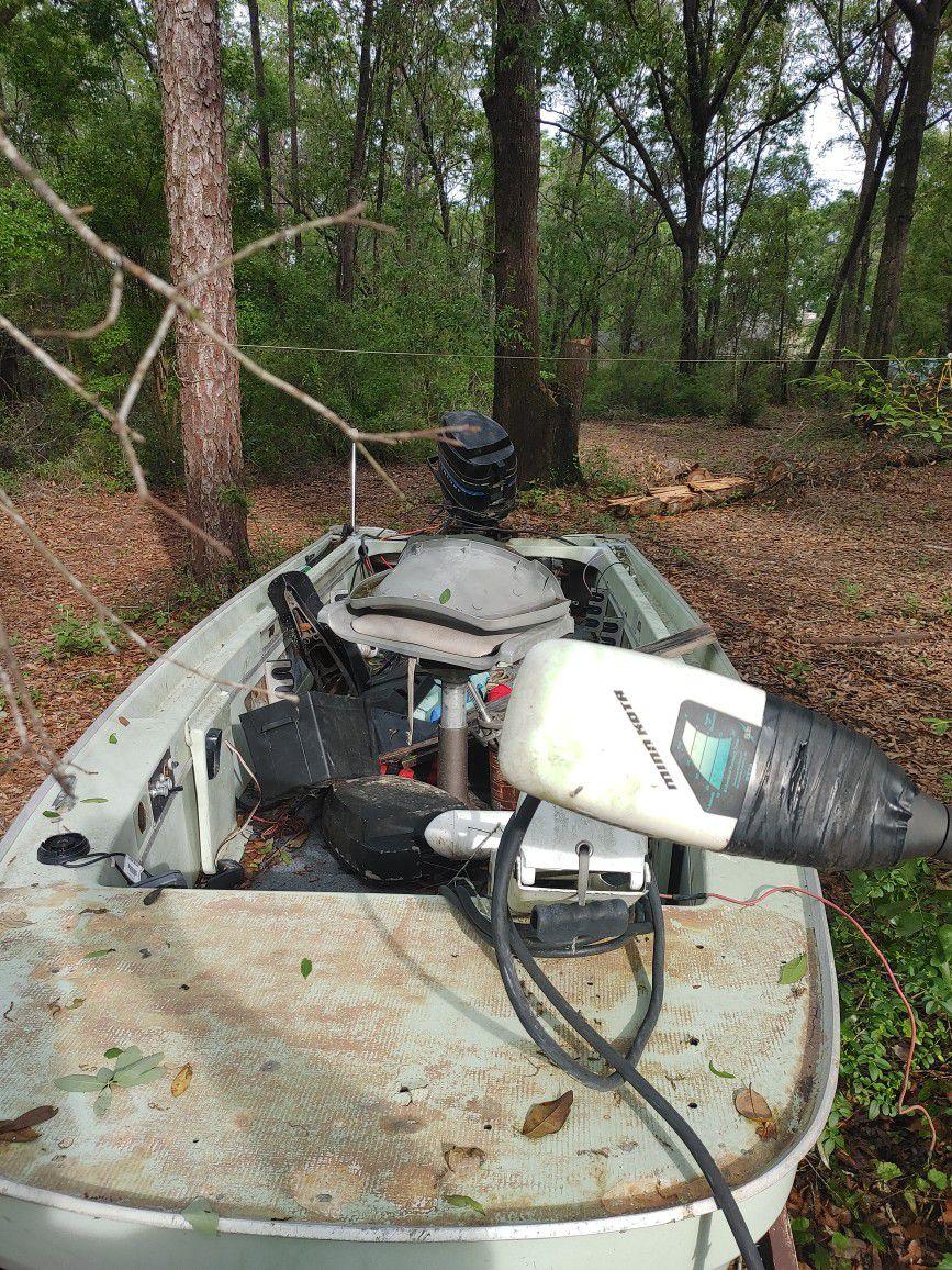 Photo Boat ,boat Trailer And 2 Motors Obo Or Trade