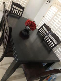 Dark brown table Thumbnail