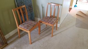 2 Oak chairs for Sale in Herndon, VA