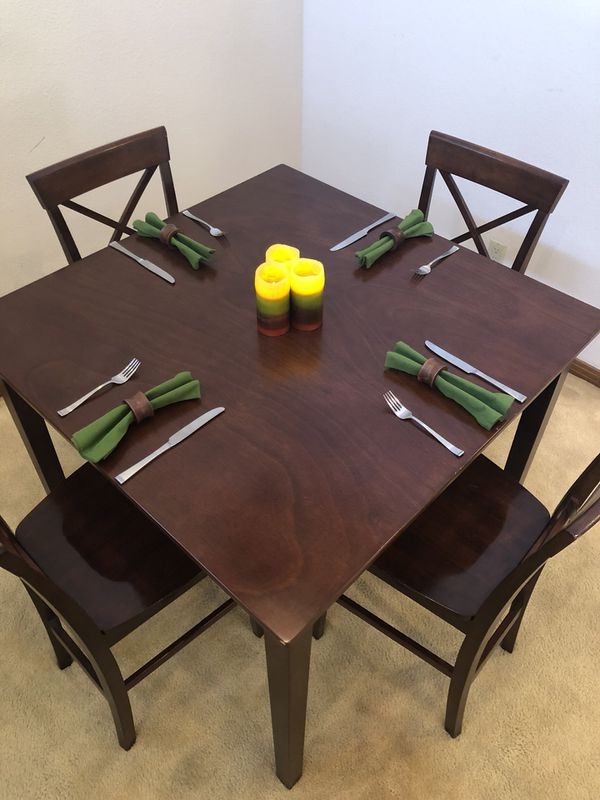 counter height table with 4 chairs delivery available for sale