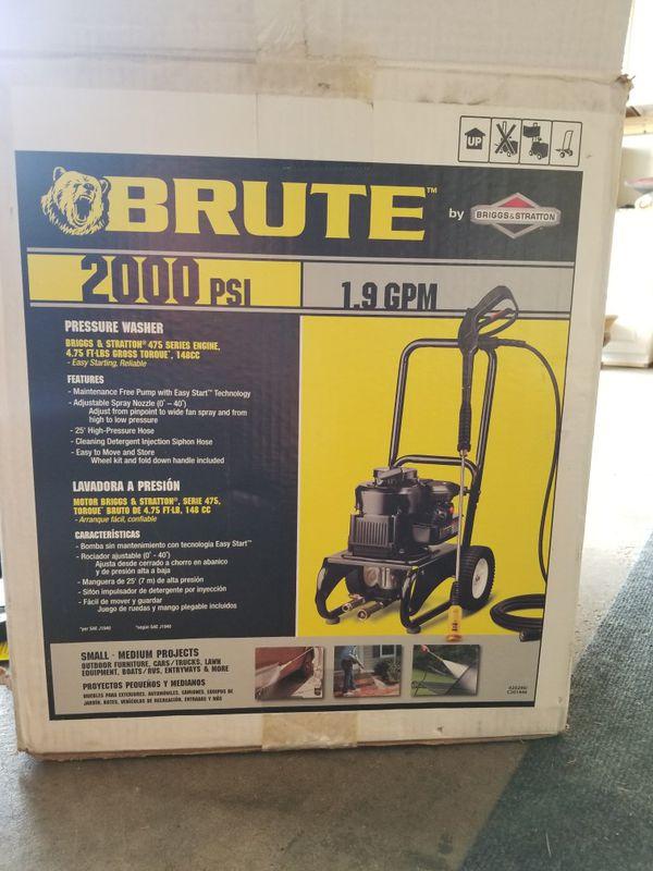 Briggs & Stratton BRUTE 2000 PSI 1 9 GPM pressure washer for Sale in  Albertville, MN - OfferUp