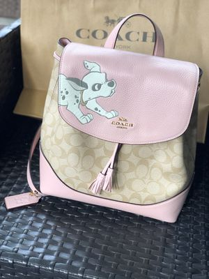 Photo Disney coach backpack style purse 101 Dalmatian puppy dog $428 tags