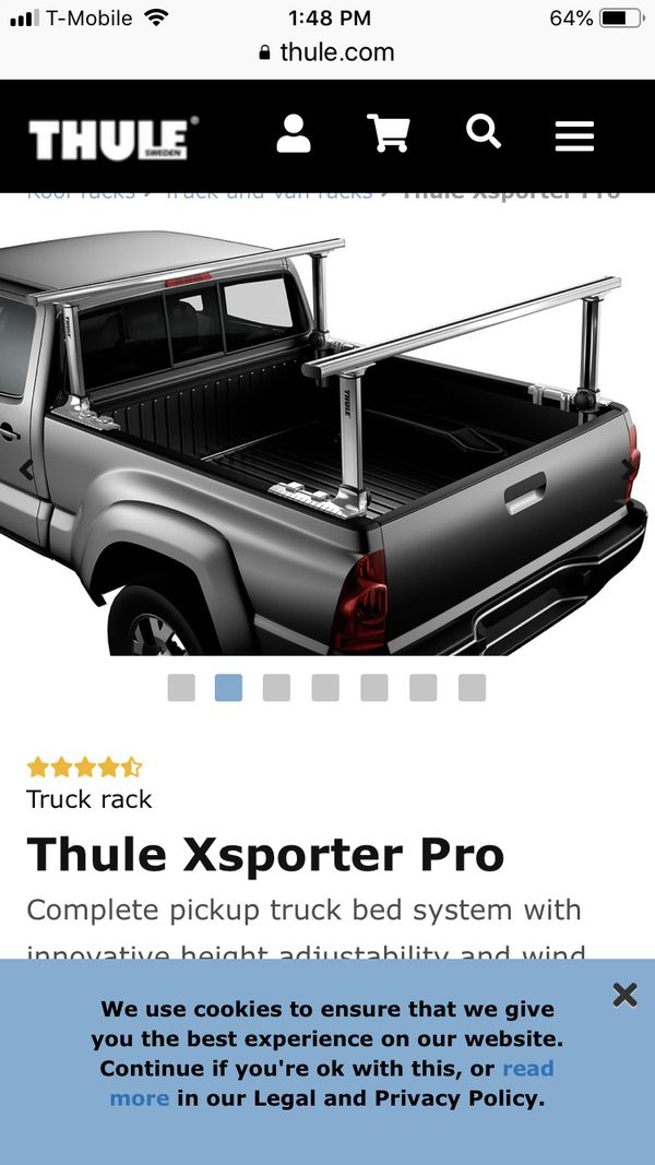 Thule Truck Bed Rack >> Thule Xsporster Pro Truck Bed Rack System For Sale In Arlington Wa Offerup