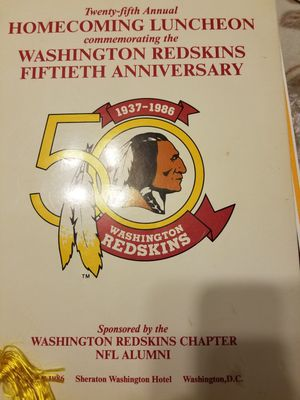 Washington redskins fiftieth anniversary 1937 1986 book autograph by doug Williams for Sale in Forest Heights, MD
