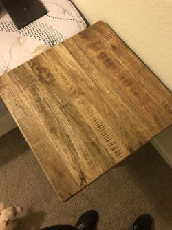 Signature furniture wood coffee table and 2 end tables Thumbnail