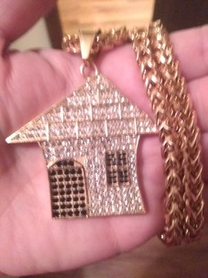 "30"" (10mm) Franco chain! With ""Trap-house!""pendent! for Sale in Waterbury, CT"
