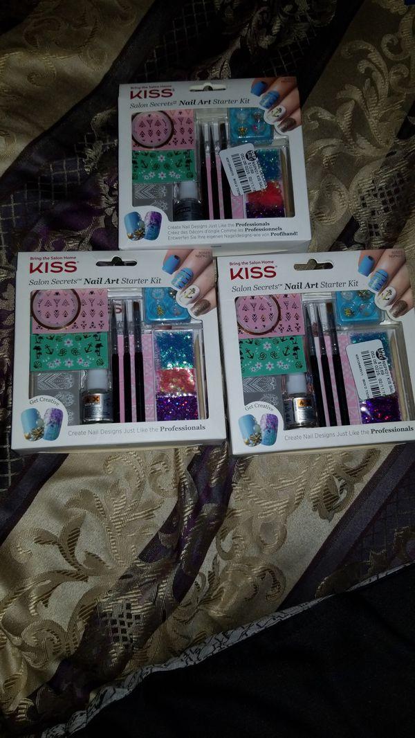 Kiss Salon Secrets Nail Art Starter Kit 3 Pack For Sale In Fort