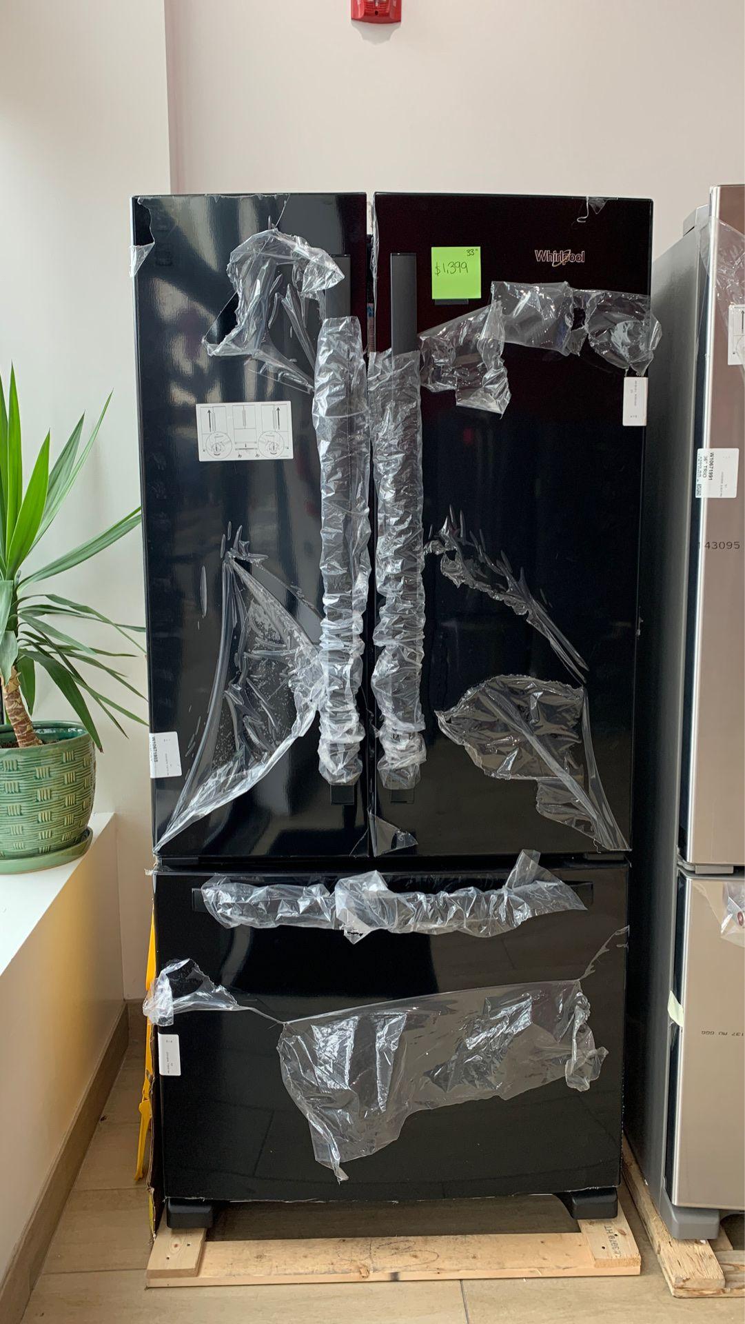 Whirlpool 22 cu. ft. French Door Refrigerator in Black