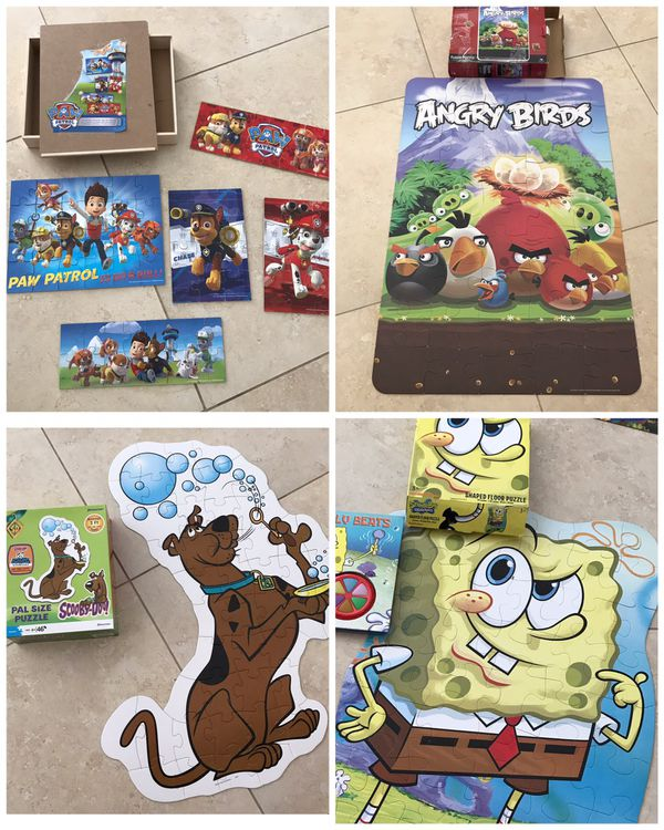 3 Giant Puzzles 46 Piece 3ft Angry Bird Sponge Bob Scooby Doo For Sale In Lauderdale Lakes FL