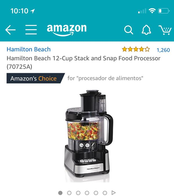 Hamilton Beach 12 Cup Stack And Snap Food Processor 70725a For