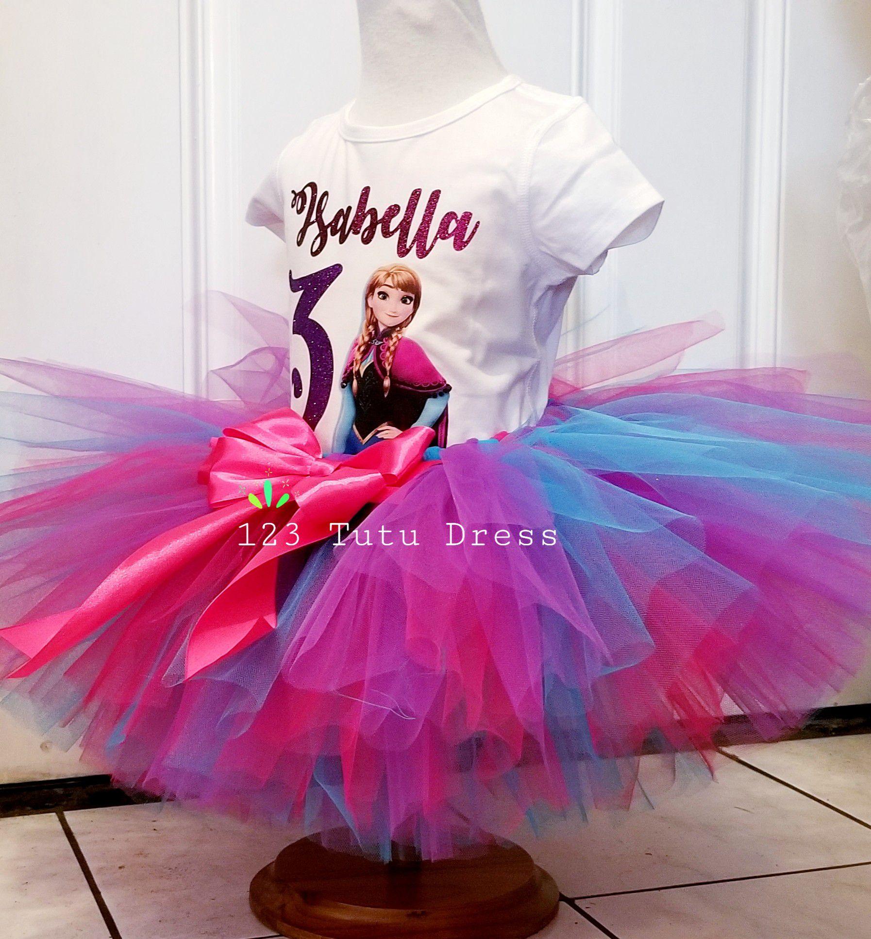 Anna Frozen Birthday Tutu Outfit