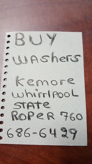 Buy. Washers. For. 25 dl for Sale in Hesperia, CA