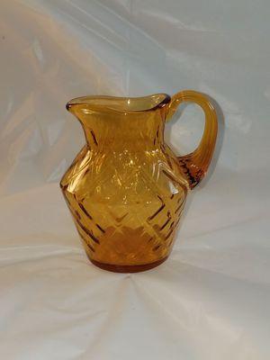 Mini amber glass pitcher for Sale in Philadelphia, PA