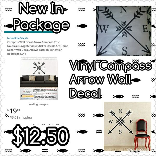 Arrow Compass Wall Decal for Sale in LaFollette, TN - OfferUp