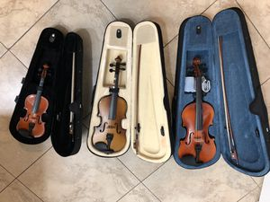 Violins with cases for Sale in Kissimmee, FL