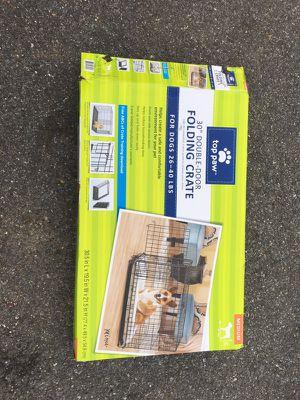 "NEW 30"" Double Door Dog Crate for Sale in Darnestown, MD"