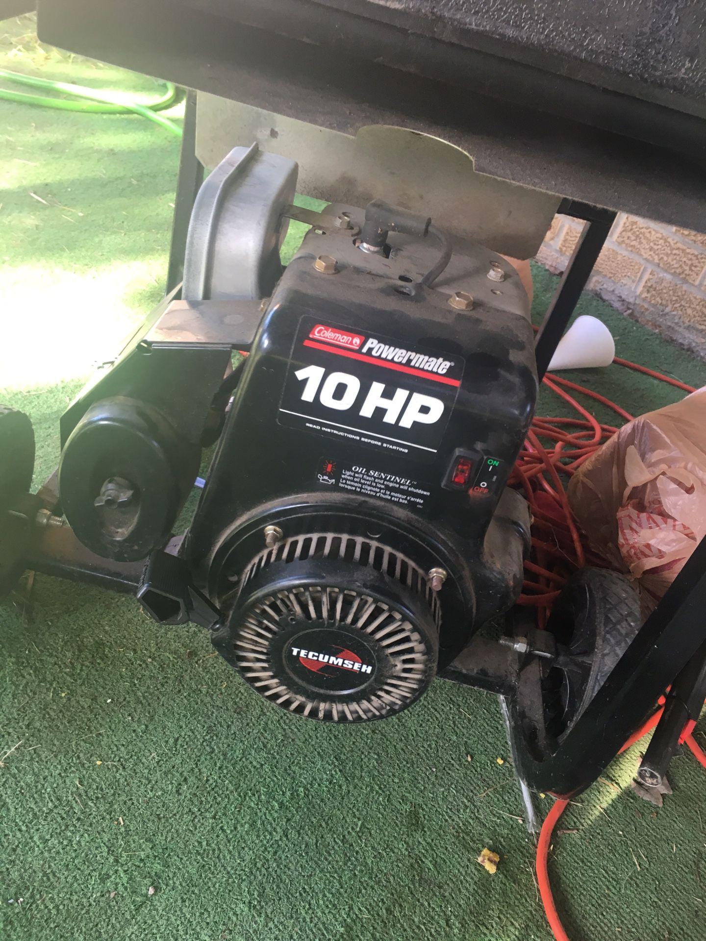 Coleman 10 hp 5000 watt generator