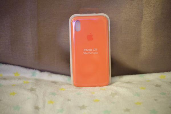 silicone iphone xr case orange