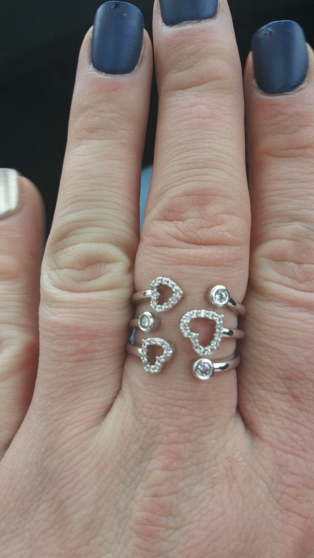 Size 9 silver ring