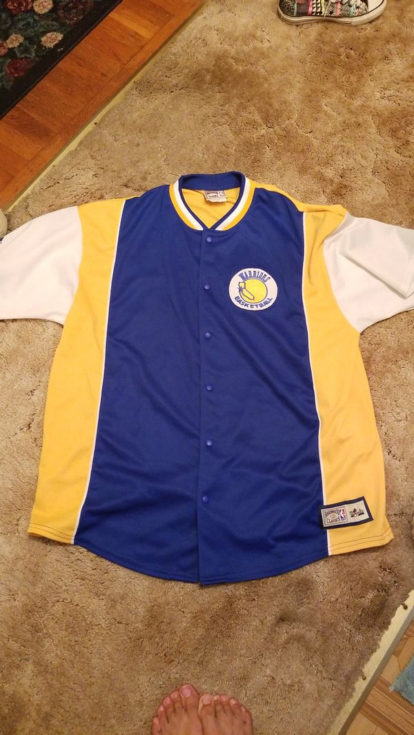 100% authentic a225b bb717 Warriors hardwood classic nba majestic jersey xl for Sale in Long Beach, CA  - OfferUp