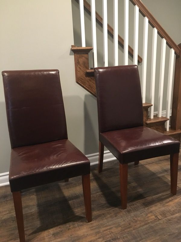 Fine Pottery Barn Grayson Leather Chairs For Sale In Clawson Mi Caraccident5 Cool Chair Designs And Ideas Caraccident5Info