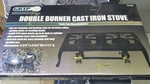 Double burner cast iron gas stove for Sale in Tampa, FL