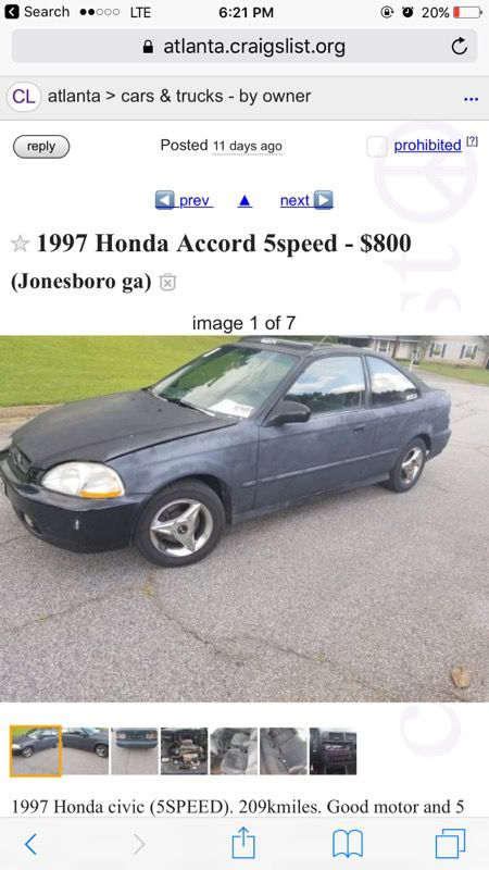 Honda Civic For Sale In Covington Ga Offerup